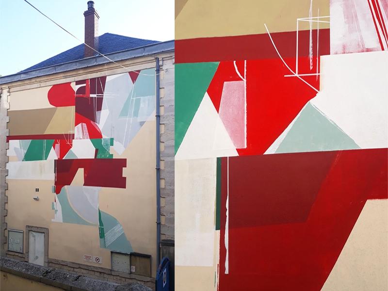 amose mural paint Banana pschitt festival Dijon