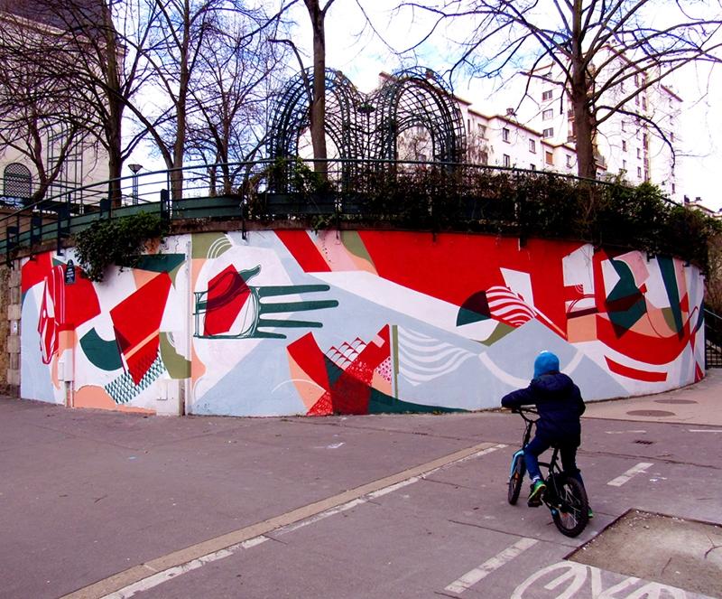 le mur 12 paris wall paint amose