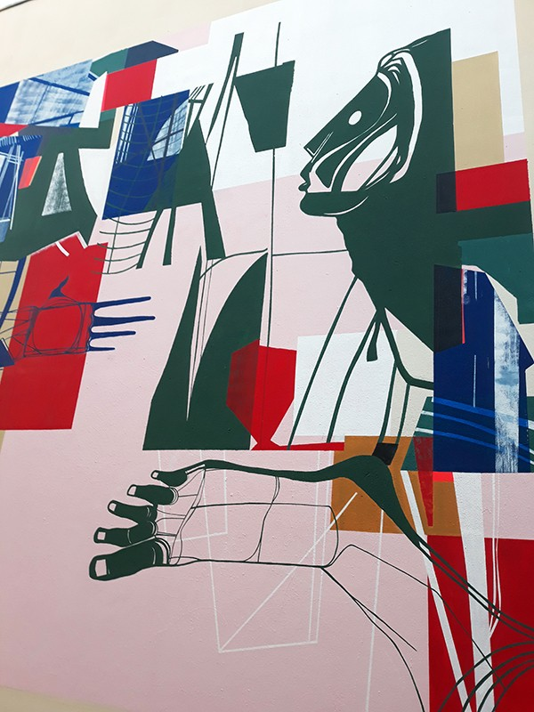 "Mural painting for "" L'Antipode "" a concert hall in Rennes / France"