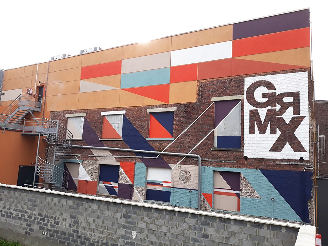 """Mural painting for """" Le Grand Mix """" a concert hall in Tourcoing / France / with the help of my friend NOTEEN"""